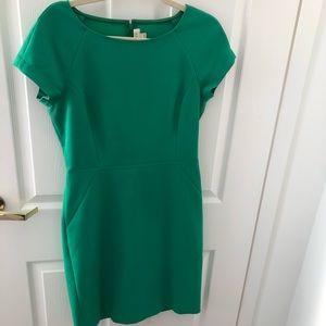 J. Crew Factory Green Sheath Dress